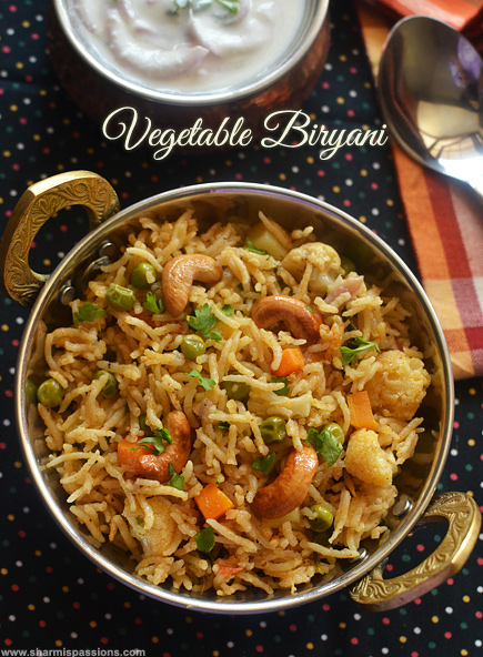 Vegetable Biryani Recipe Veg Biryani Chettinad Style Recipe Sharmis Passions