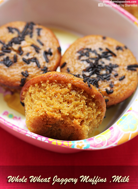 Whole Wheat Muffins and Milk