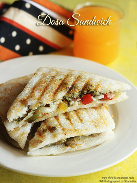 Grilled dosa sandwich recipe