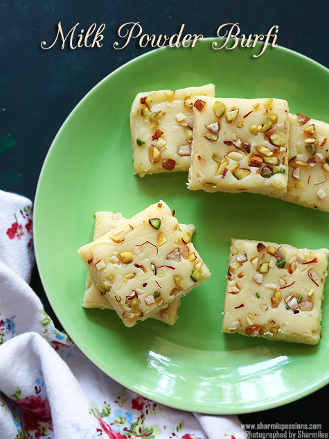 milk powder burfi recipe