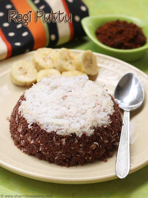 ragi puttu recipe