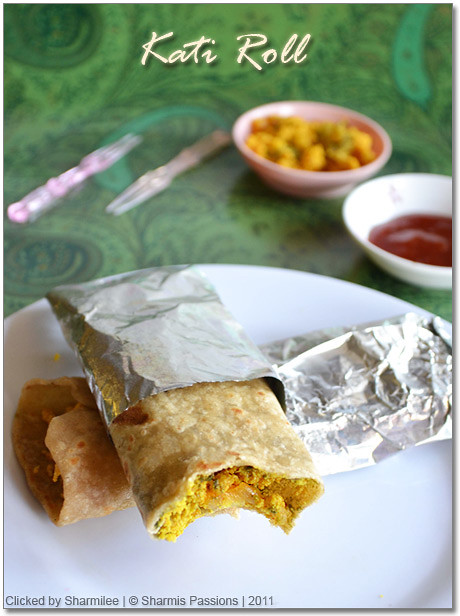 Vegetable Kathi Roll Recipe