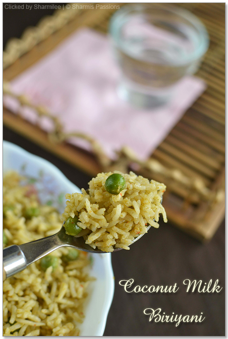 Coconut Milk Peas Biriyani Recipe