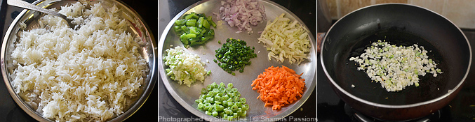 How to make egg fried rice - Step1
